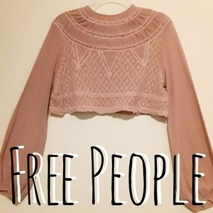 Free people Cropped Long Sleeve Top